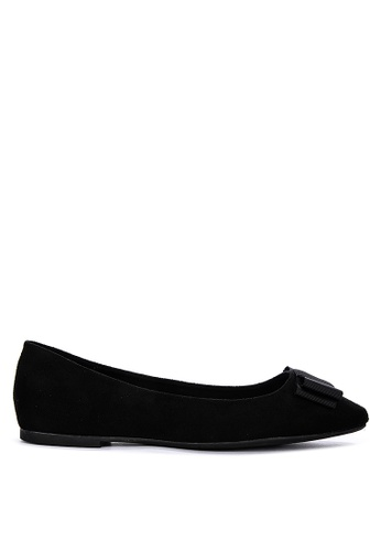 ABOUT A GIRL black Suede Ballerina Flats 8D5F0SHD2AF722GS_1