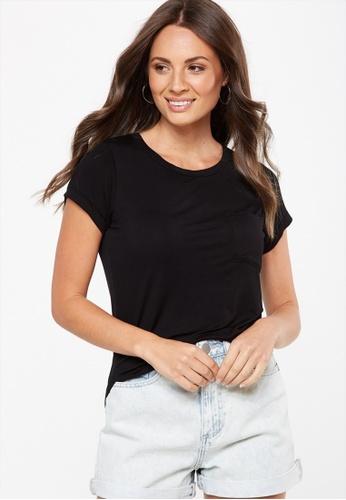 Cotton On black Kathleen Short Sleeve Top 80229AA8A0C451GS_1