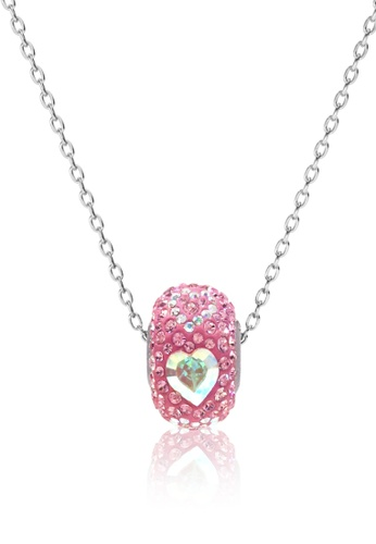Her Jewellery pink and silver BeCharmed Pave Endless Love Bead Pendant (Pink) - Made with premium grade crystals from Austria 30368AC2C70FACGS_1