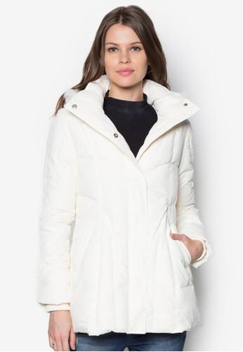 長版羽絨連esprit 台中帽外套, 服飾, 夾克 & 大衣