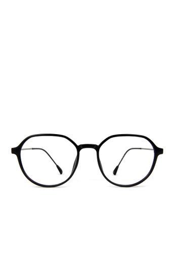ASLLY black Future Equation│Hexagonal Anti-blue light glasses B21E6GLB174427GS_1