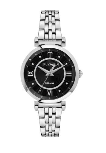 Trussardi silver T-Twelve Quartz Watch Stainless Steel Steel Strap R2453138504 11CC0AC4D6BCA4GS_1