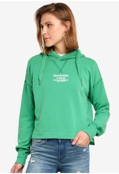 60d1c837c9d191 Abercrombie & Fitch green Logo Popover Hoodie 5D338AA52ECCF2GS_1