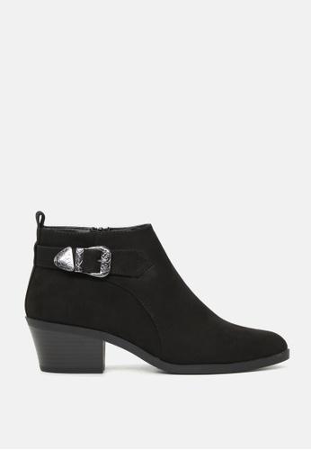 London Rag 黑色 金属扣短靴 SH1766 177B3SH8DAD77AGS_1