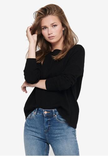 ONLY black Brenda Long Sleeve Pullover EB15BAAB3505C4GS_1