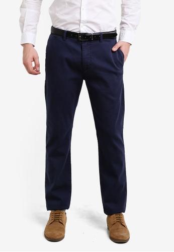 ESPRIT blue Woven Regular Pants ES374AA0RELYMY_1