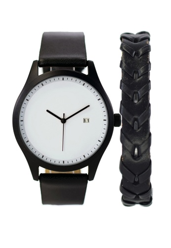 LEUPP black Aoki Watch And Bracelet Pack F6E39AC29CE311GS_1