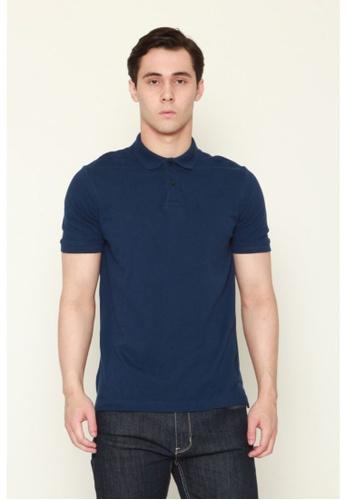 DENIZEN blue Denizen Men's Basic Polo Blue 01042AA38BFCEFGS_1