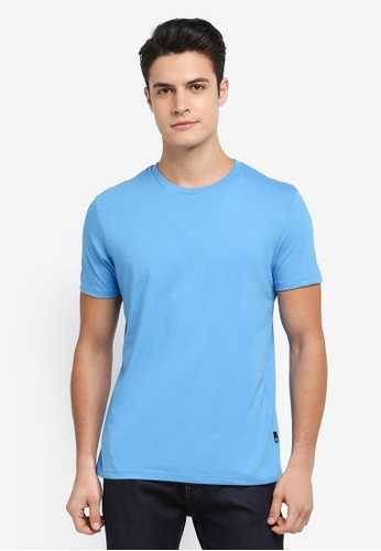 Burton Menswear London blue Cornflower Blue Crew Neck T-Shirt 11ABCAA8CA5F61GS_1