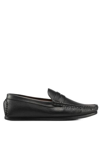 Carlton London black Slip On Loafers D96BDSHB9C6E71GS_1