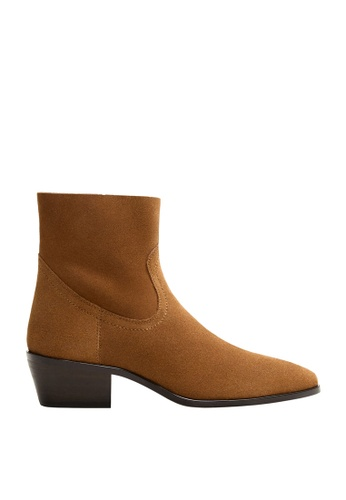 3f02b79ff74 Heel Leather Ankle Boots