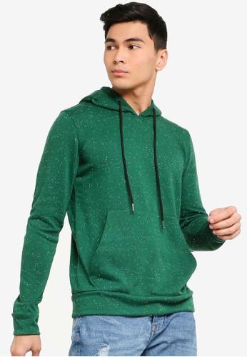 UniqTee green Hoodie with Kangaroo Pocket 465FAAA21A30FAGS_1