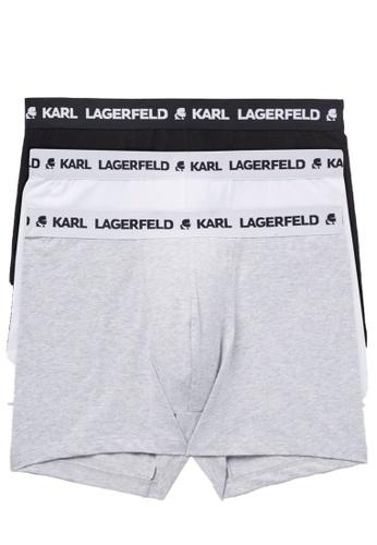 KARL LAGERFELD multi LOGO TRUNKS SET (PACK OF 3) 55E55USBA81963GS_1