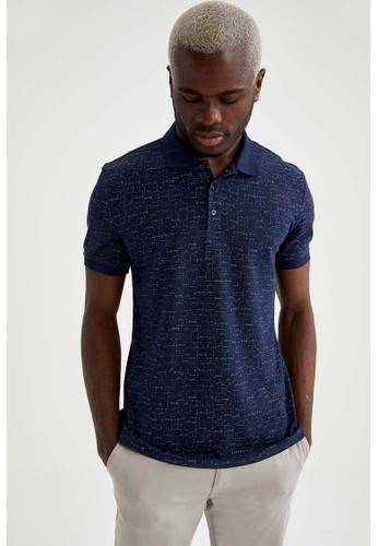 DeFacto navy Short Sleeve Cotton Polo T-Shirt 2F339AAA6F05C3GS_1