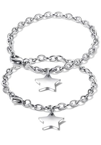 Trendyshop silver Couple Bracelet Set 225F2AC7A0683AGS_1