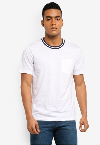 MANGO Man white Pocket Cotton T-Shirt B1280AA66BB9B0GS_1