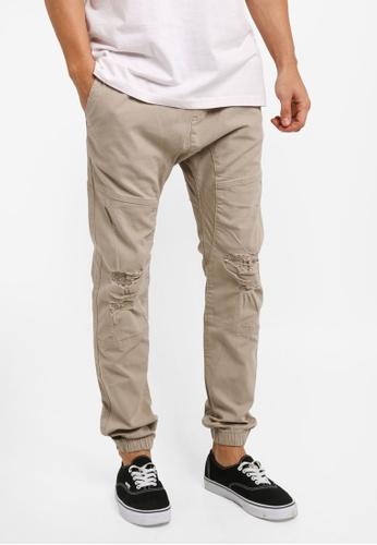 Cotton On beige Drake Cuffed Pants AEB01AA4B583DFGS_1