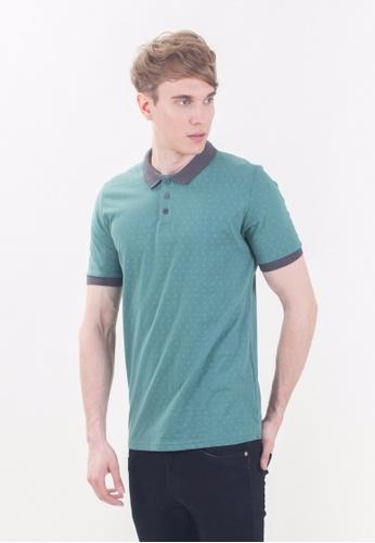 Drum grey Short Sleeve Polo Shirt -GRN DR425AA87RIQMY_1