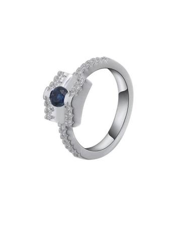 ADORA Silver Saphire Ball Ring AD365AC12YHNHK_1