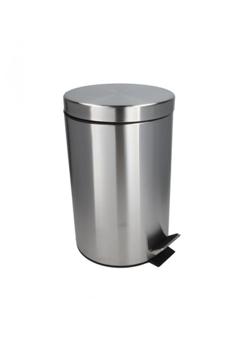 JVD JVD Lifetsyle Pedal Bin, Matt Stainless Steel with Soft-Closing lid, with inner plastic liner, 3 litres EBE4AHL8B2DF02GS_1
