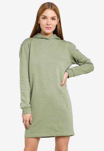 JACQUELINE DE YONG green Line Life Hood Sweat Dress 02775AADE304C2GS_1