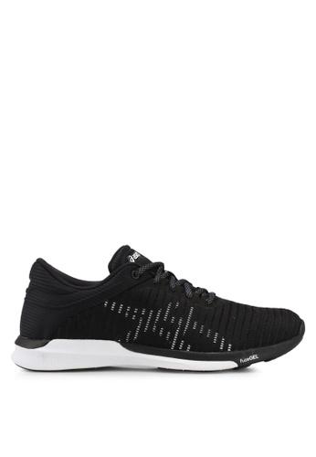 Asics black Fuzex Rush Adapt Shoes AS989SH0SVT3MY_1