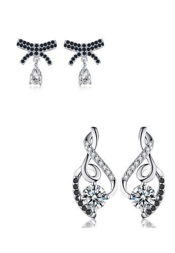 A-Excellence white Premium Elegant White Silver Earring Set D2E53ACE57E51BGS_1