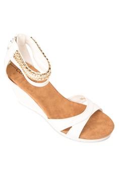 Blanche Wedge Sandals