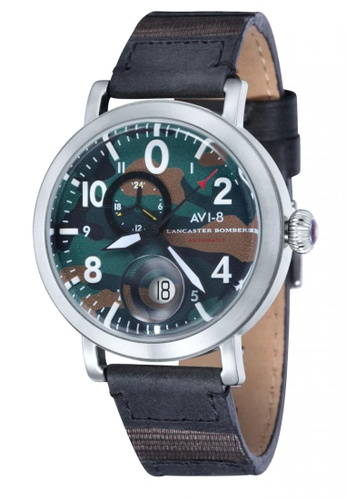 bc250e4aab0 Shop AVI-8 Lancaster Bomber Men s Leather Strap Watch Online on ZALORA  Philippines