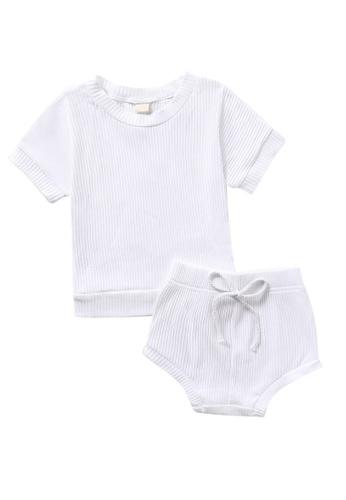 RAISING LITTLE white Dallas Outfit Set 2BFCCKA5BDBC19GS_1