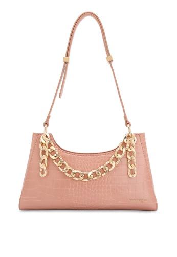 Volkswagen pink Faux Leather Handbag DDE13ACA10254EGS_1
