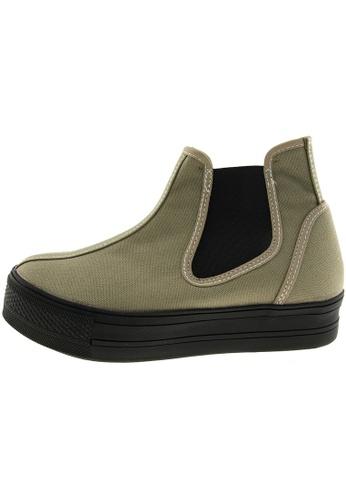 Maxstar 綠色 新款韩国鞋C30-SideSpan時尚帆布布混合女綠色 US Women Size MA345SH17HECTW_1