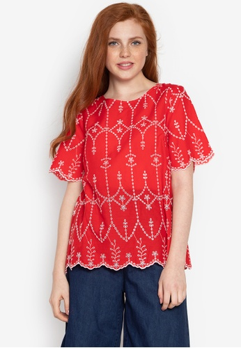 DEBENHAMS red The Collection - Col All Over Broderie T 7A166AAD023E97GS_1