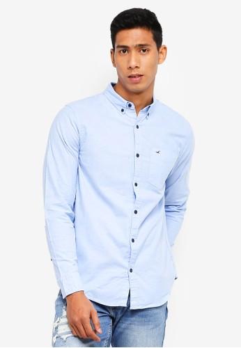 Hollister blue Core Oxford Shirt B3AC0AAC66E9D7GS_1