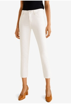 ef6bed23f263d Mango white Cropped Slim Fit Jeans BED01AA0200B1EGS_1