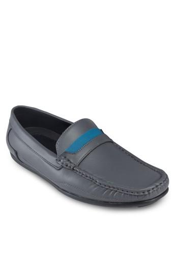 esprit暢貨中心拼色方頭仿皮樂福鞋, 鞋, 鞋