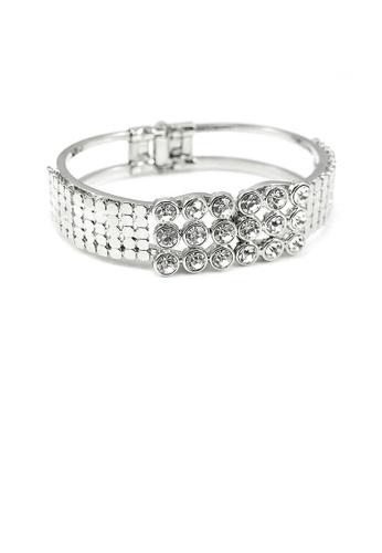 Glamorousky silver Elegant Bangle with Silver Austrian Element Crystal CCB15AC291E5B8GS_1