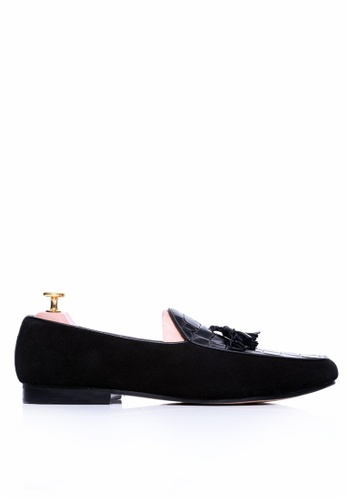 Zeve Shoes black Zeve Shoes Belgian Loafer - Black Crocodile Leather 83C3DSHAC5AC4FGS_1