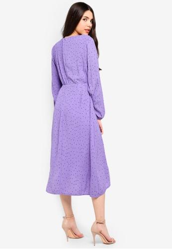 Buy Glamorous Polka Dot Front Tie Dress Online