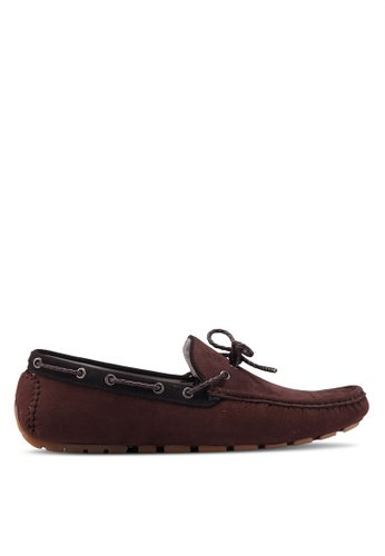Burton Menswear London brown Brown Suede Look Driving Loafers 33A19SH08B9AA4GS_1