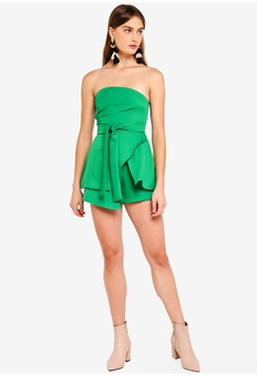 9a180189927 45% OFF MISSGUIDED Tie Waist Bandeau Skort Playsuit RM 199.00 NOW RM 109.90  Sizes 8