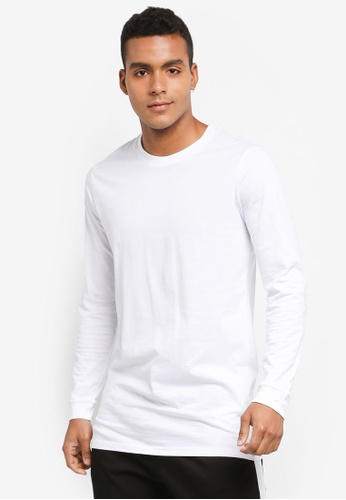 Factorie white Longsleeve Tall Tee AEF81AABE8234DGS_1