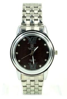Valia Jess Unisex Stainless Steel Strap Watch 8222-2