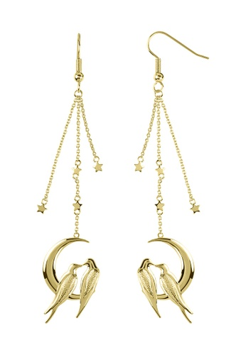 Sara Miller gold Sara Miller - Moonlight Drop Earring - Gold (SAJ1002) 2D39BAC96F5447GS_1