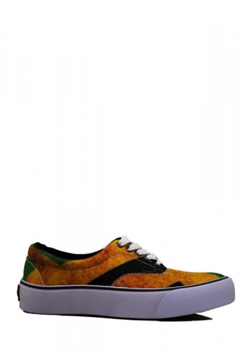 D-Island brown D-Island Shoes Sneakers Motif Rasta Canvas Green ABC35SH0ACD5F9GS_1