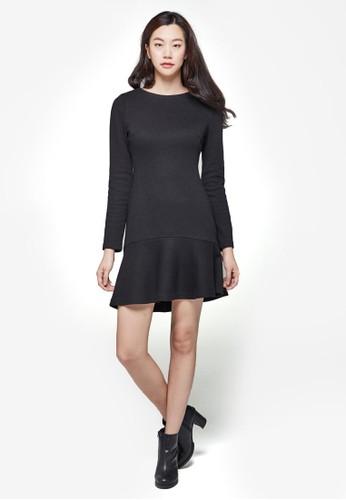 簡約起褶esprit retail長袖連身裙, 服飾, 洋裝
