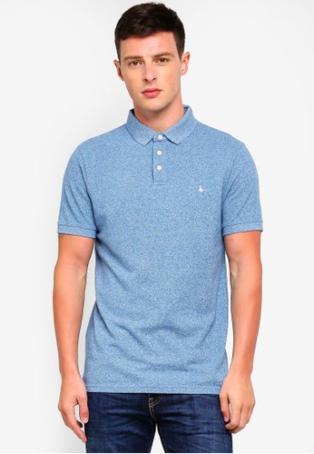 Jack Wills blue Langold Jaspe Pique Polo BF2CEAAD178331GS_1