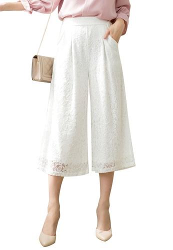 Tokichoi white Lace Culottes 740AEAAF870556GS_1