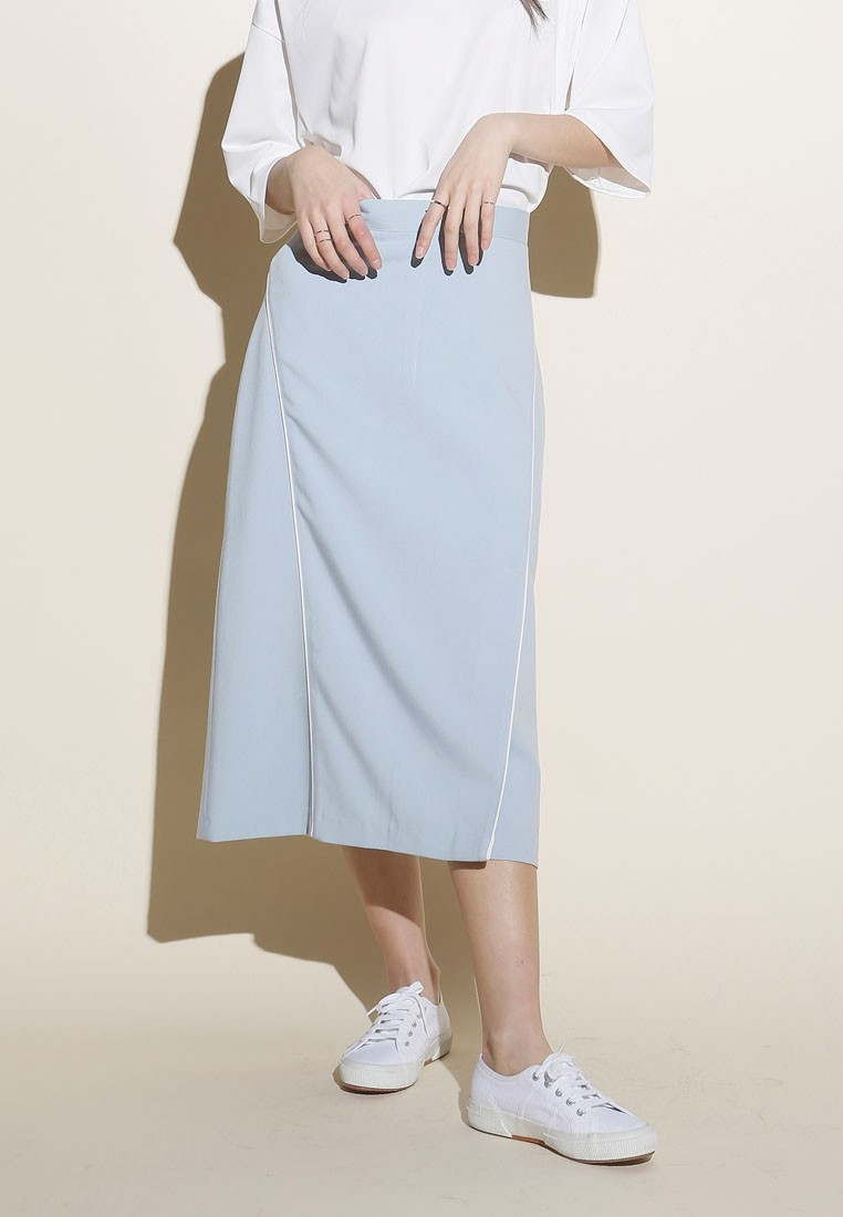 Korean Fashion Double Line Skirt