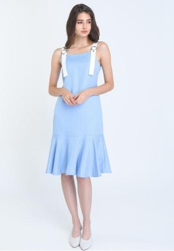 L'zzie blue LZZIE DUDLEY DRESS - BLUE CA8C3AAAA3D846GS_1